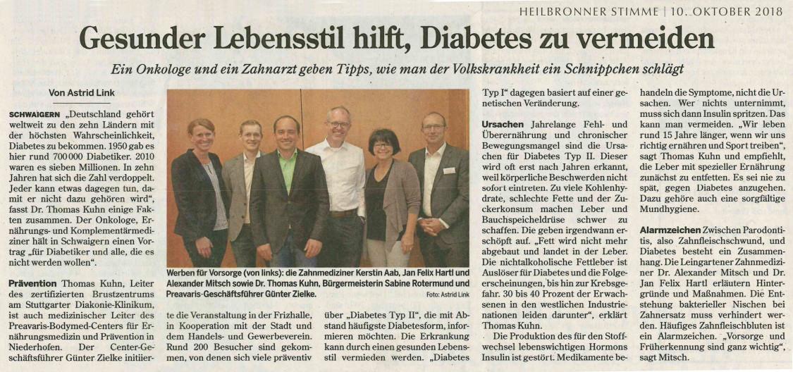 Vortrag Fritzhalle Schwaigern – Die Zahnärzte im Odenheimer Hof – Leingarten (Heilbronn) - Dr. Alexander Mitsch M.Sc. & Dr. Jan Felix Hartl M.Sc.