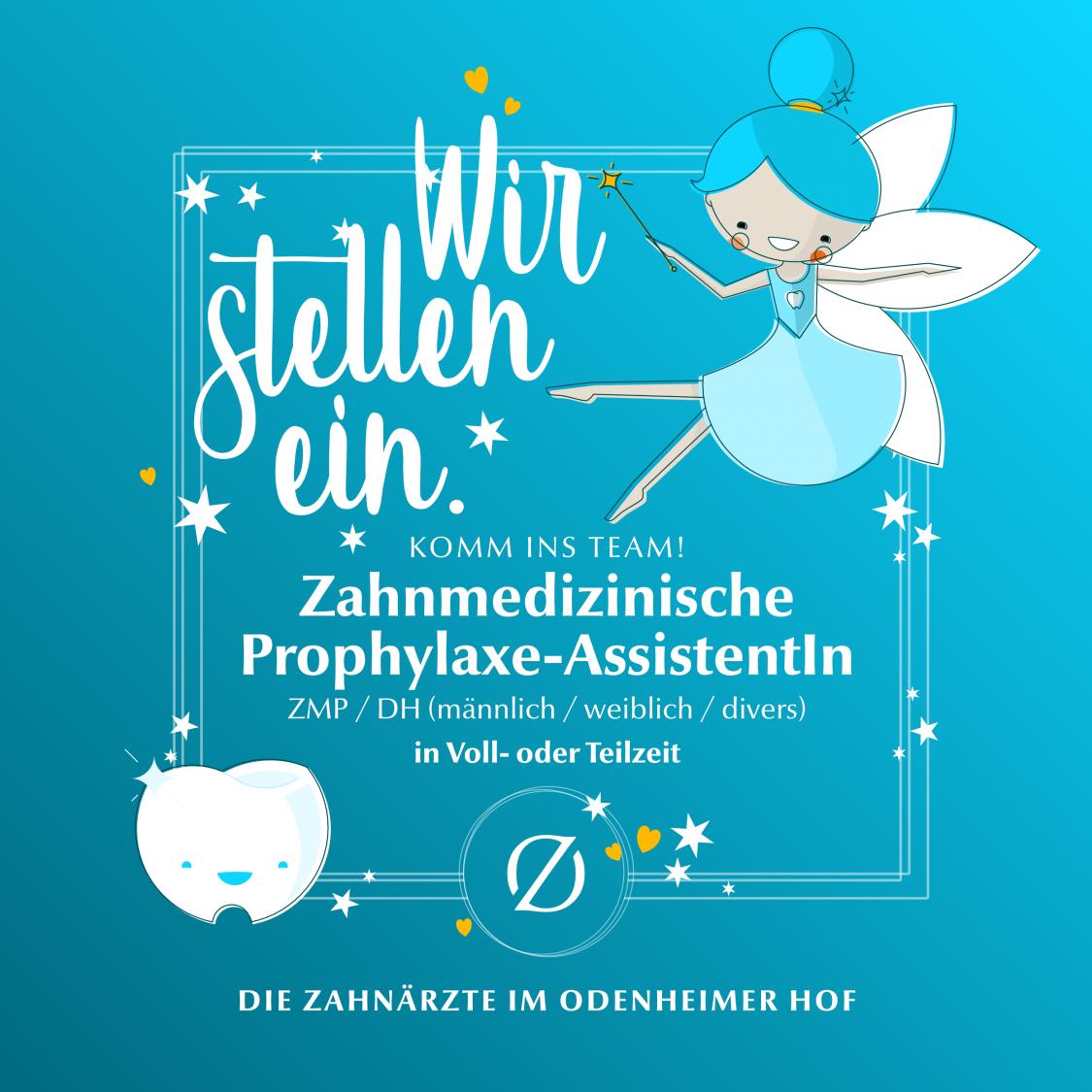 Stellenausschreibung Zahnmedizinische(r) Prophylaxe-AssistentIn (ZMP / DH) in Voll- oder Teilzeit – Die Zahnärzte im Odenheimer Hof – Leingarten (Heilbronn) - Dr. Alexander Mitsch M.Sc. & Dr. Jan Felix Hartl M.Sc.