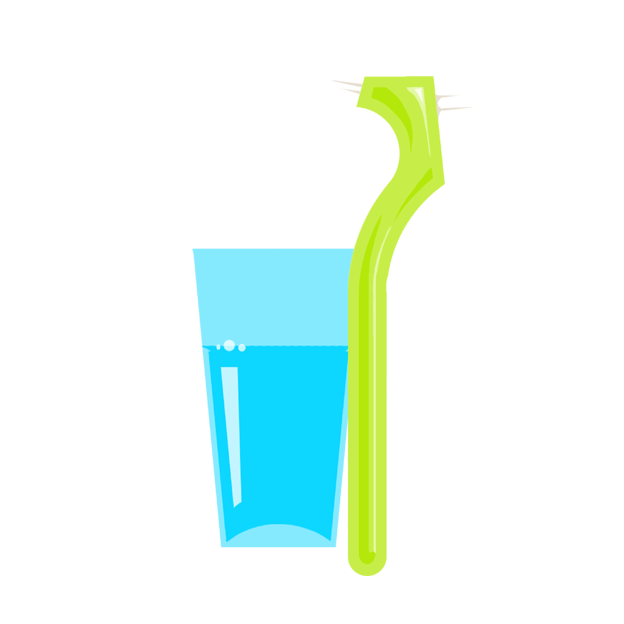 Prophylaxe | Prothesenreinigung  Wasser und Zahnbürste  sind vollkommen ausreichend  für eine gründliche Reinigung