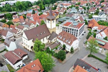 Luftbild – Die Zahnärzte im Odenheimer Hof – Leingarten (Heilbronn) - Dr. Alexander Mitsch M.Sc. & Dr. Jan Felix Hartl M.Sc.